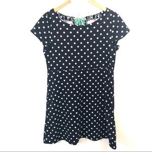 Anthropologie Postmark Black White Polka Dot Dress